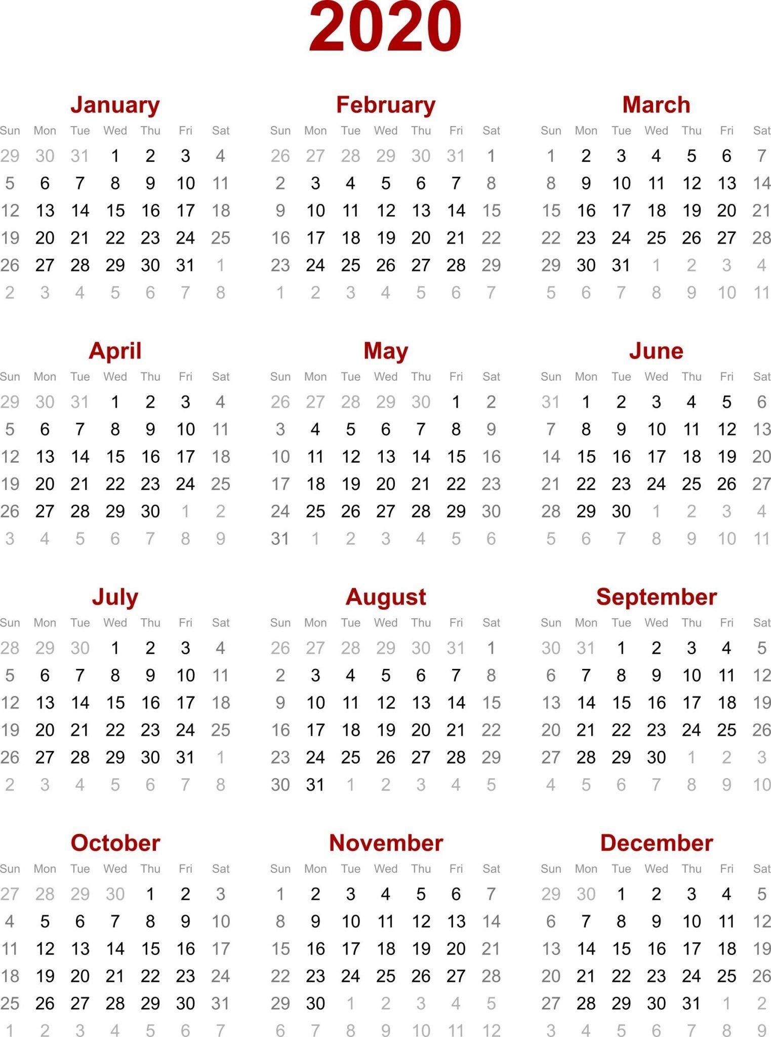 Chinese Calendar 2020 Printable Template | October Calendar