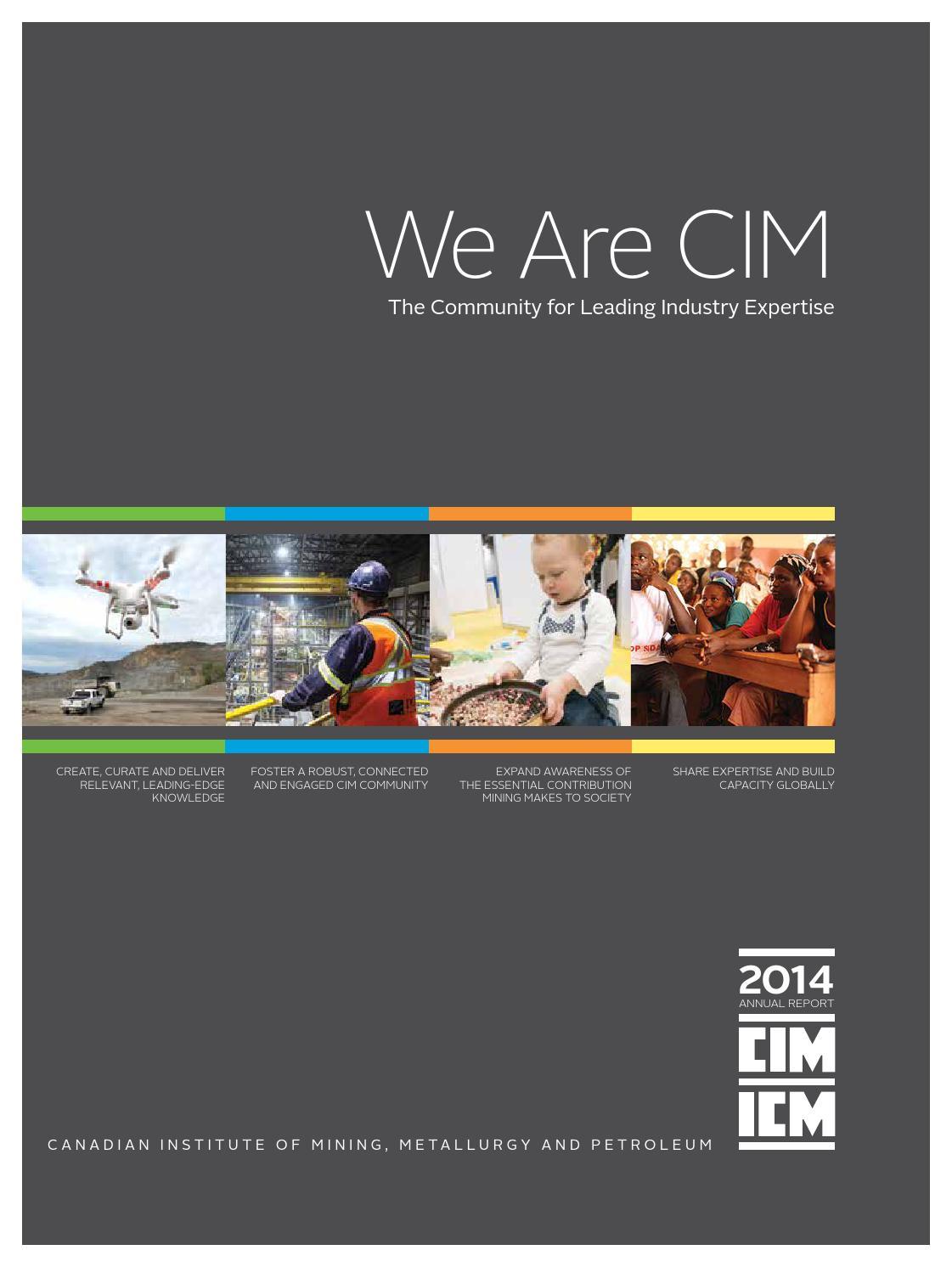 Cim Annual Report 2014Cim-Icm Publications - Issuu