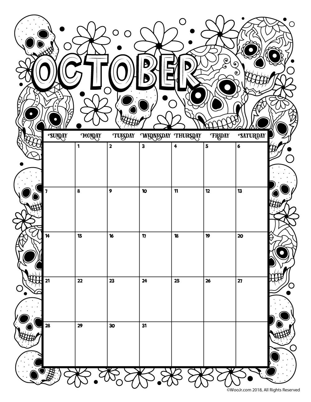 Coloring Book : Remarkable Coloring Calendar For Adults Free