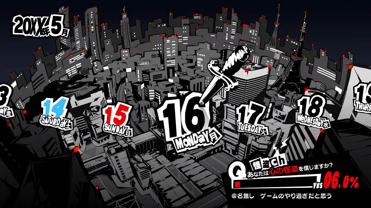 Could Someone Help Me Do This Calendar From Persona 5? No