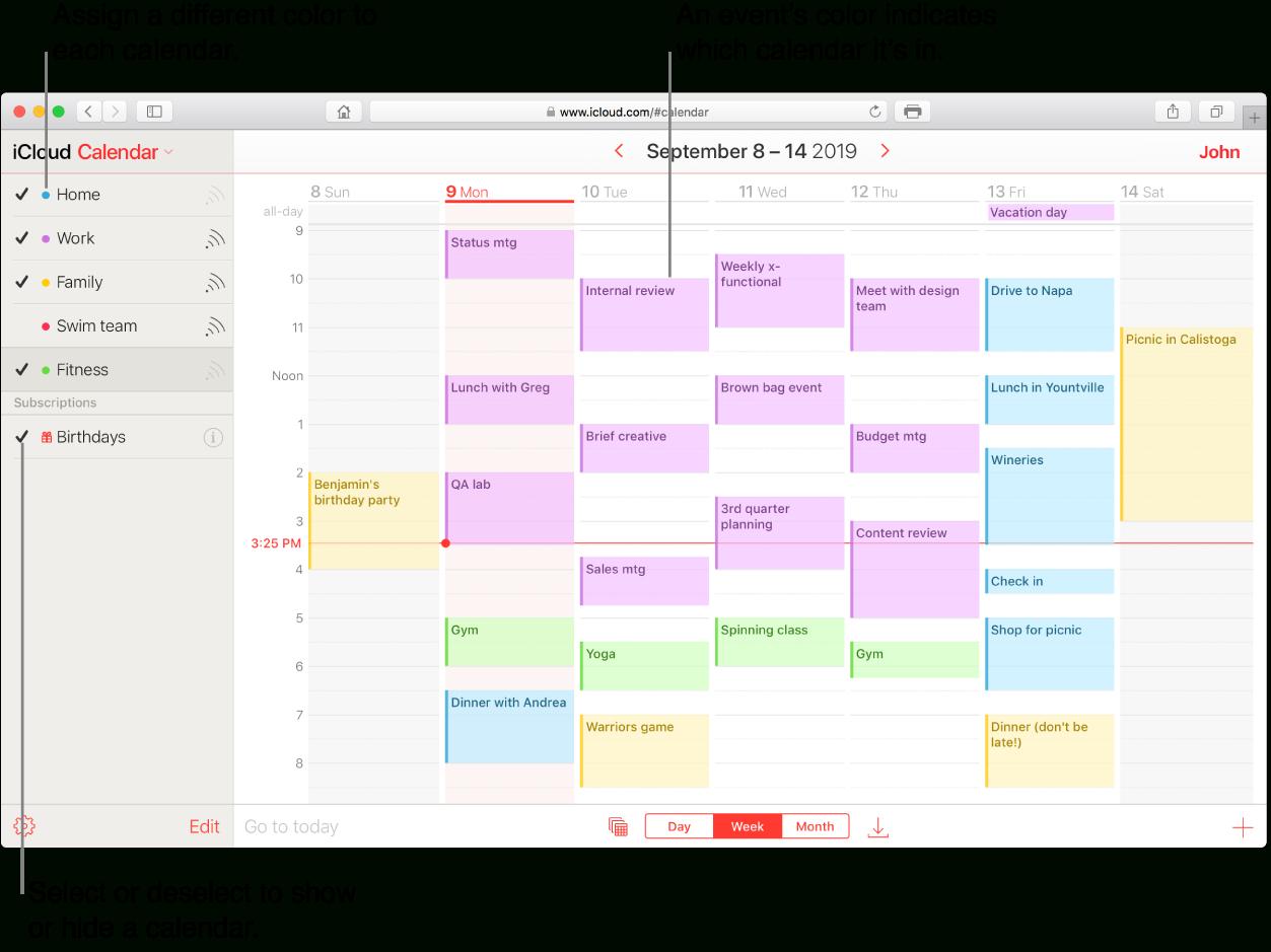 Create A Calendar On Icloud - Apple Support