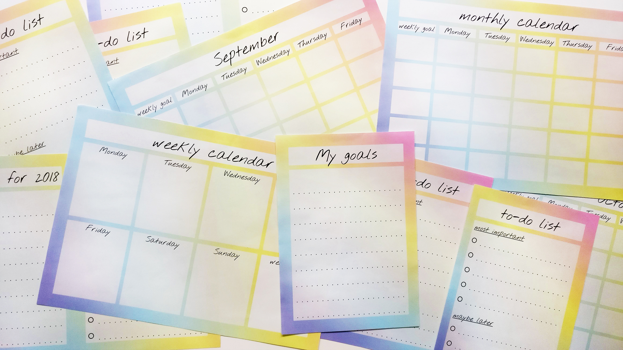 Crush Your Goals With My To-Do List And Calendar - Aliz's