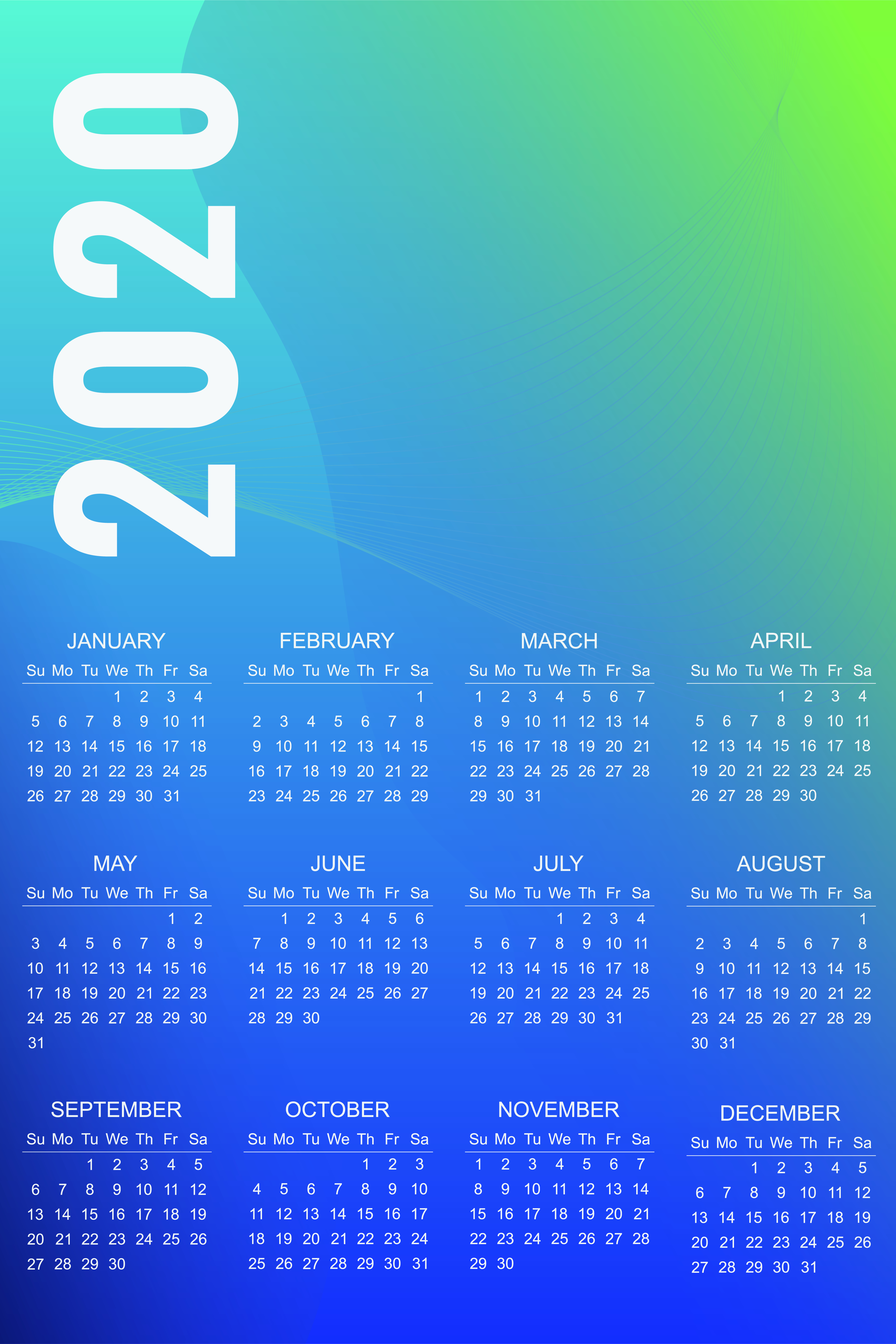 Customized Calendar 2020 Design 13