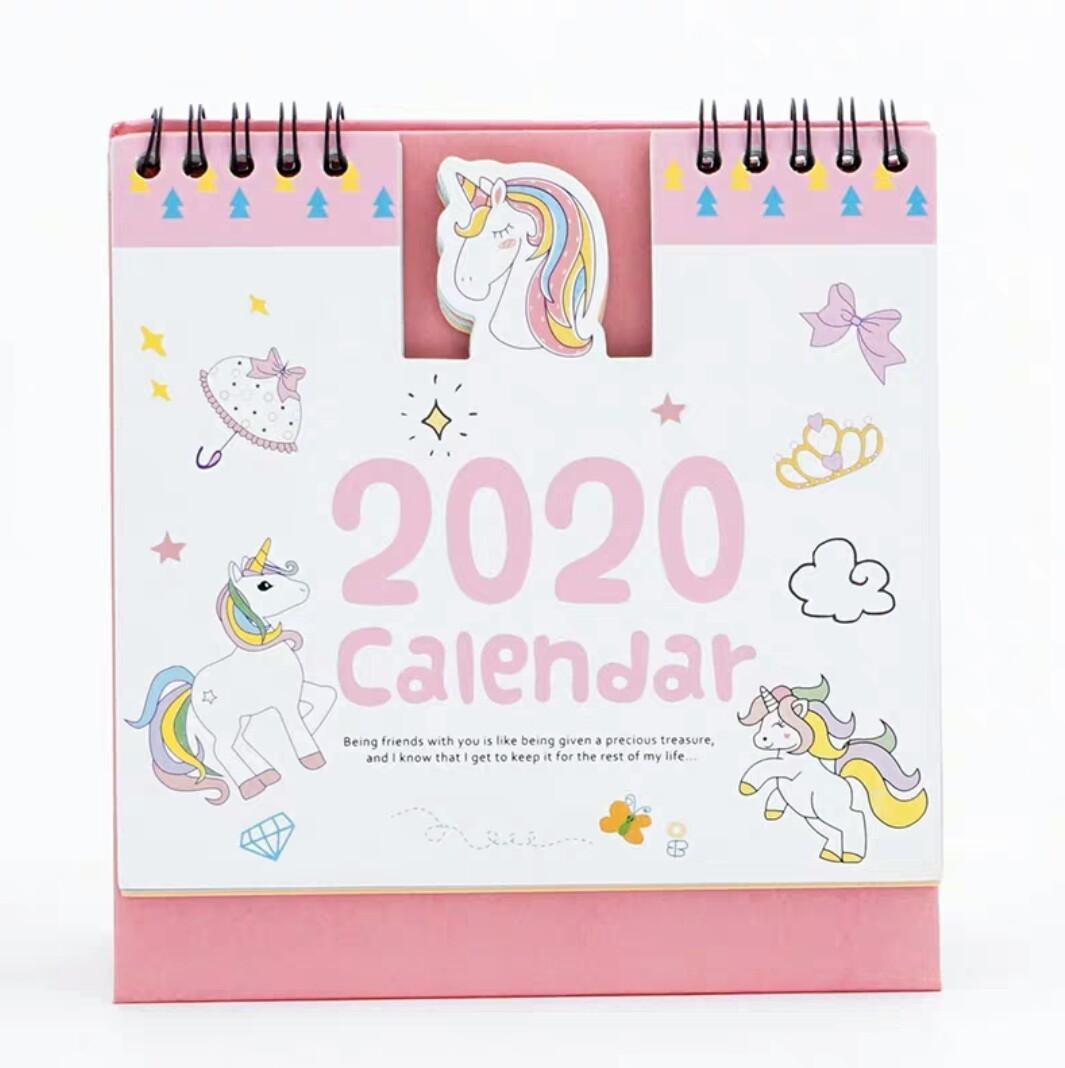 Cute Hello Kitty Doraemon Stitch Minion Totoro Baymax Unicorn Pet Calendar  2020