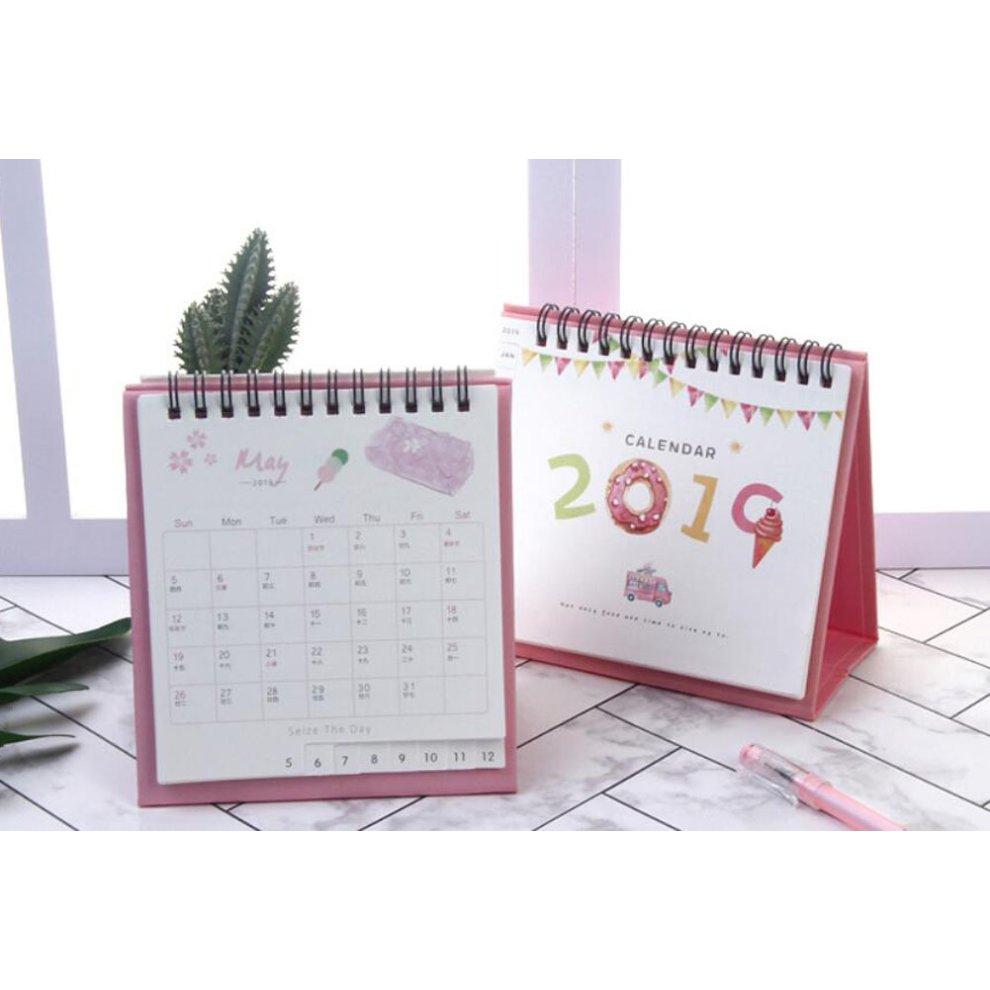 Cute Mini Staples Template Calendar Small Square Pad