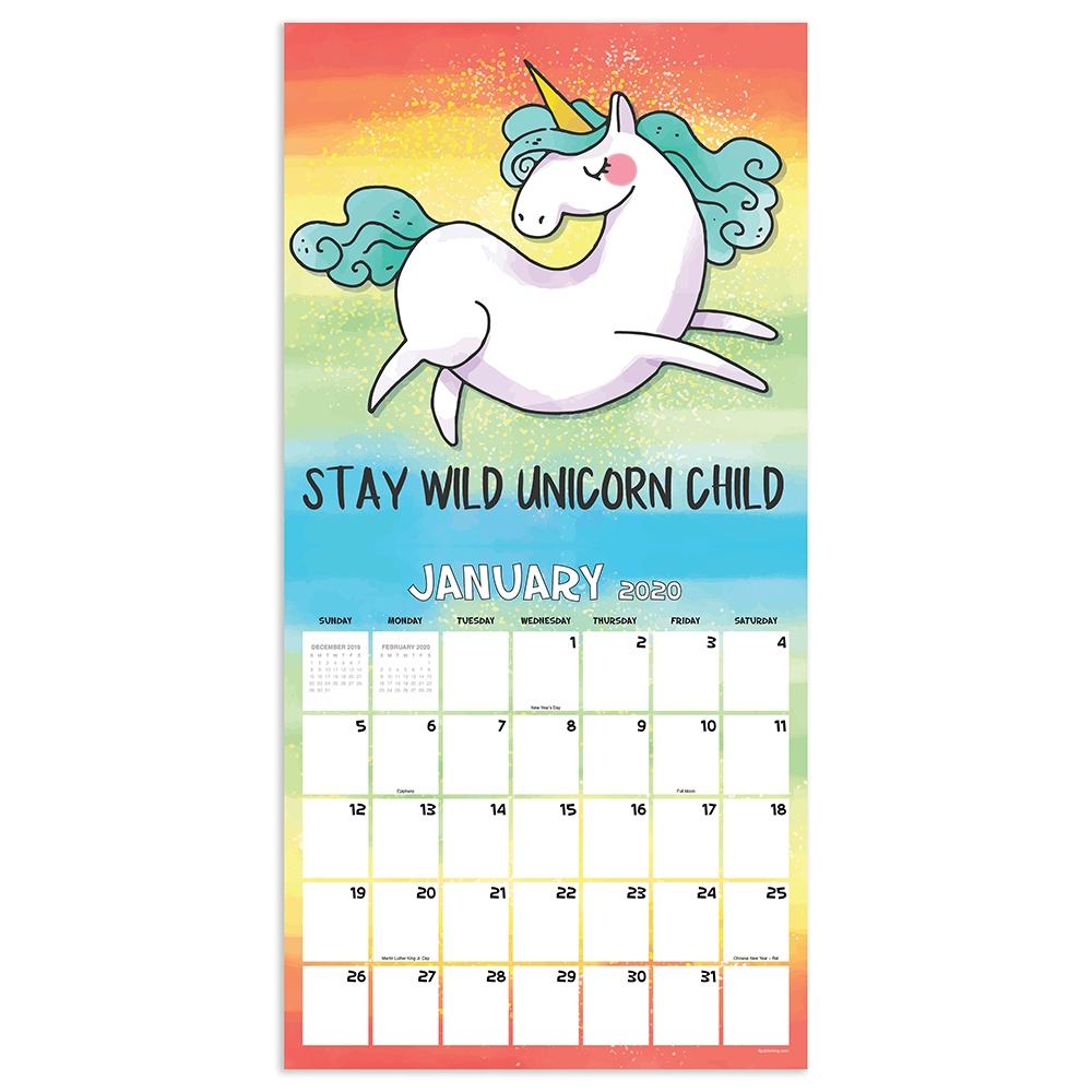 Cute Unicorn Calendar 2020