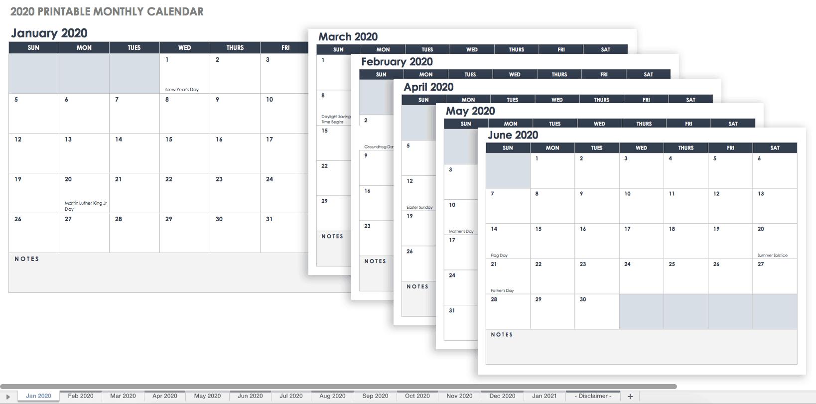 Бесплатные Шаблоны Календарей Excel На 2019 Г. И Далее С