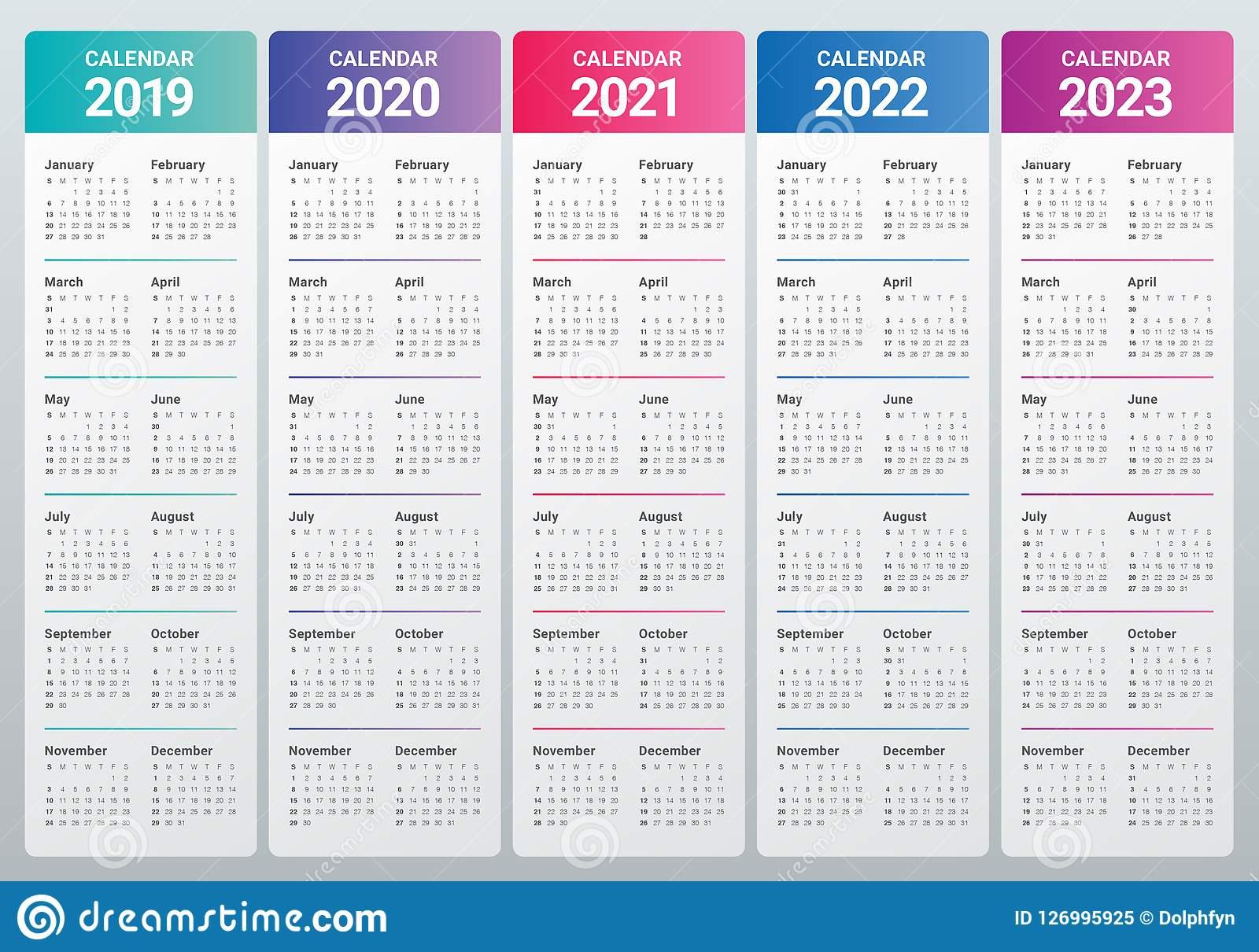 Год 2019 2020 2021 2022 Шаблон Дизайна Вектора 2023