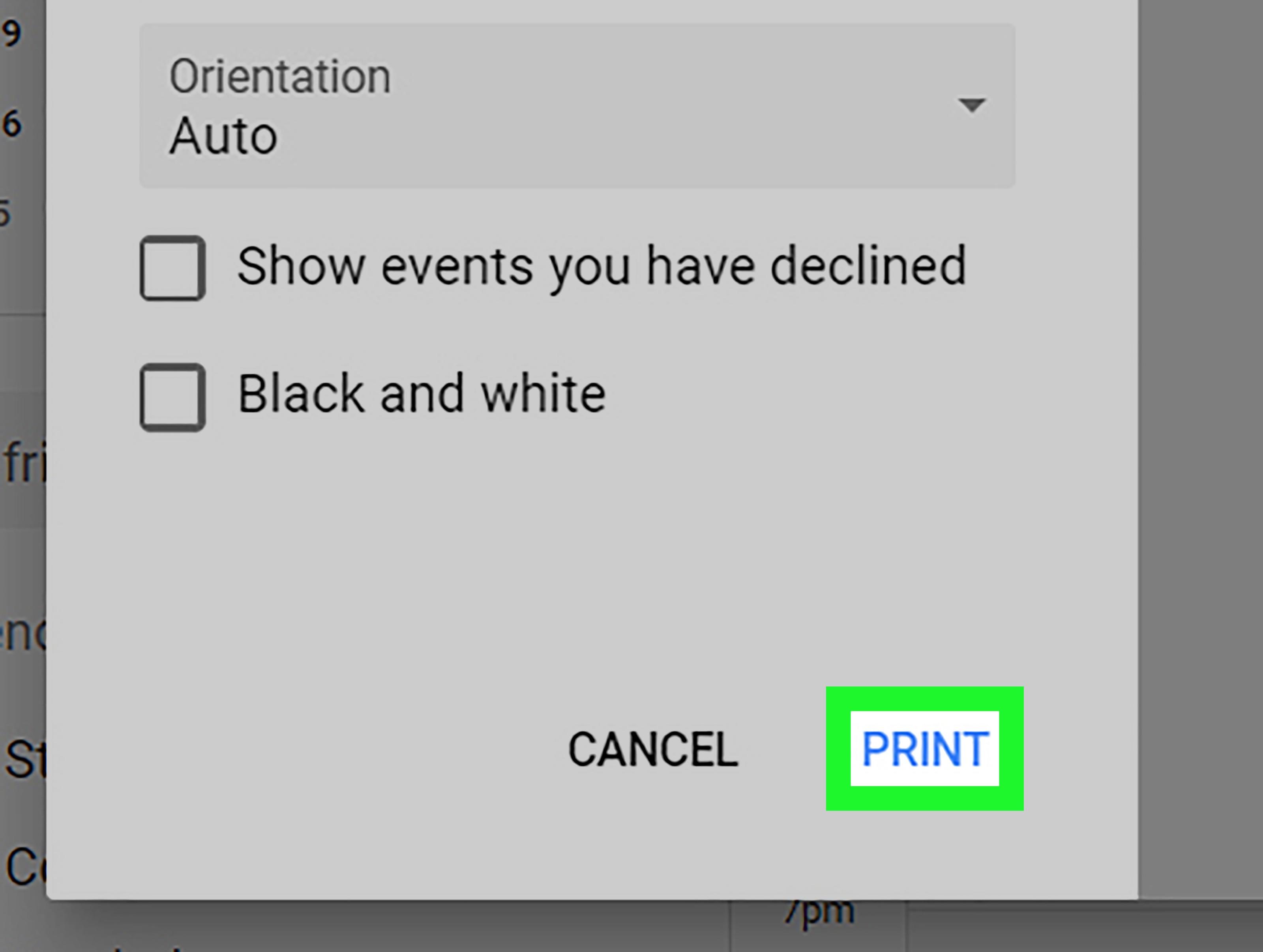 Как Распечатать Google Календарь