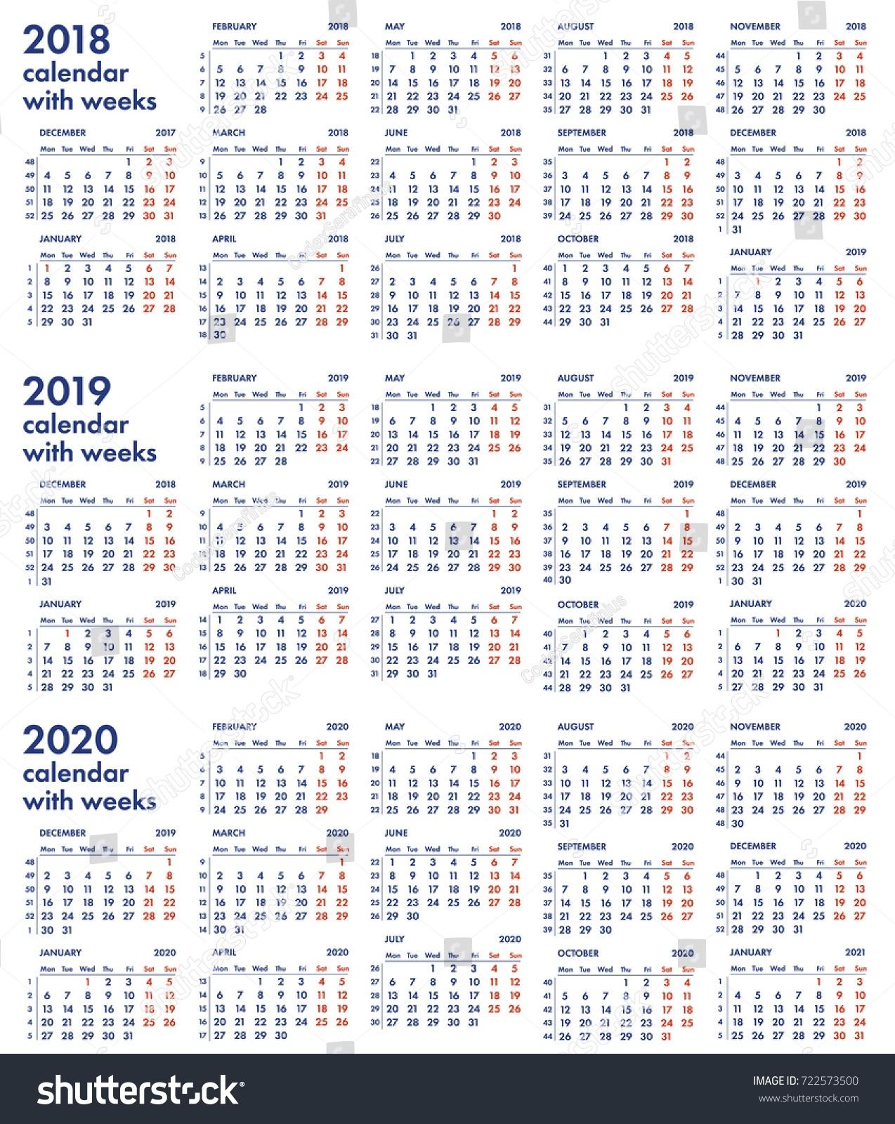 Календарь 2020 С Номерами Недель - Bagno.site