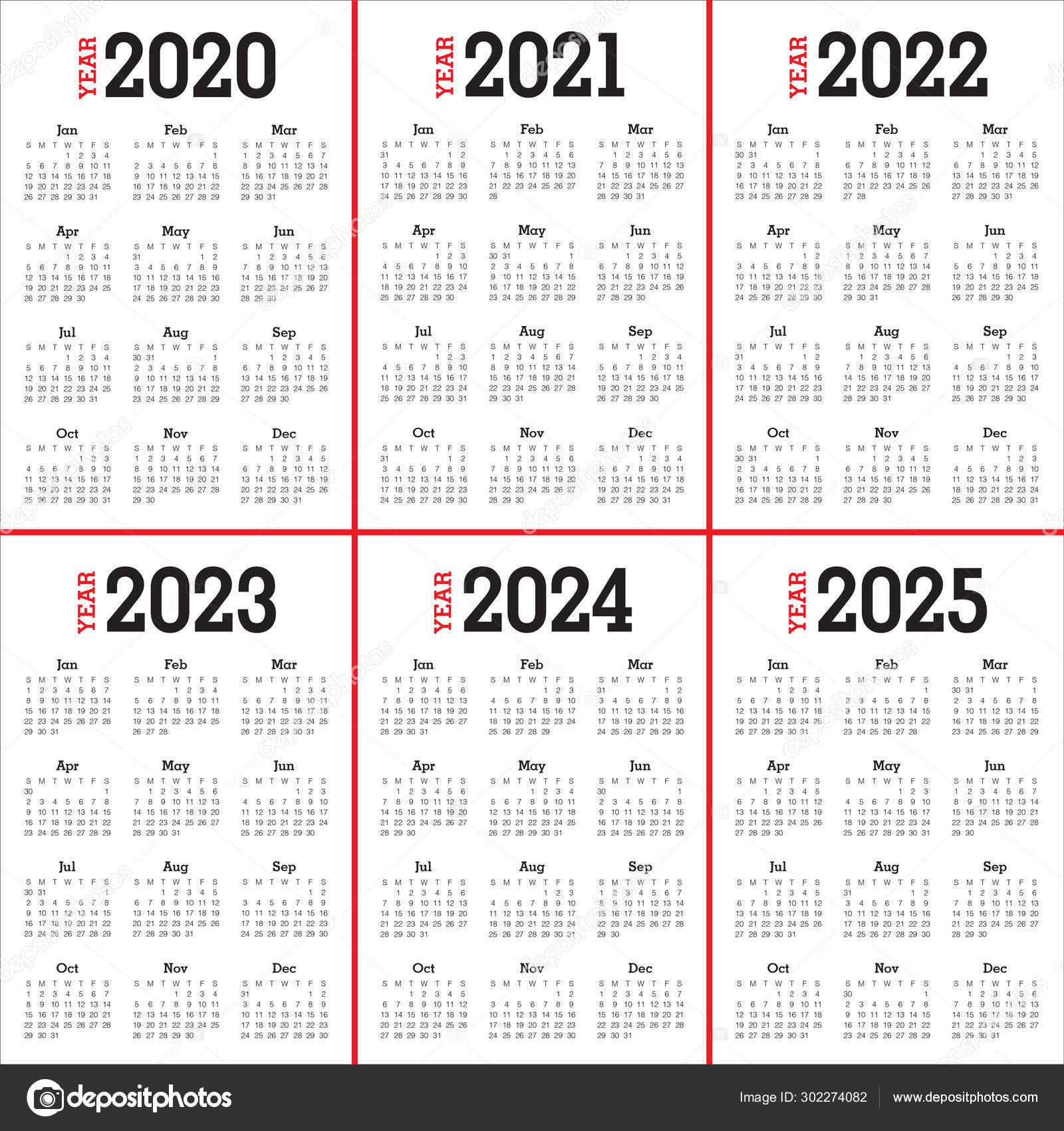 Календарь 2022 2023 2024 2025 — Стоковое Фото © Dolphfynlow