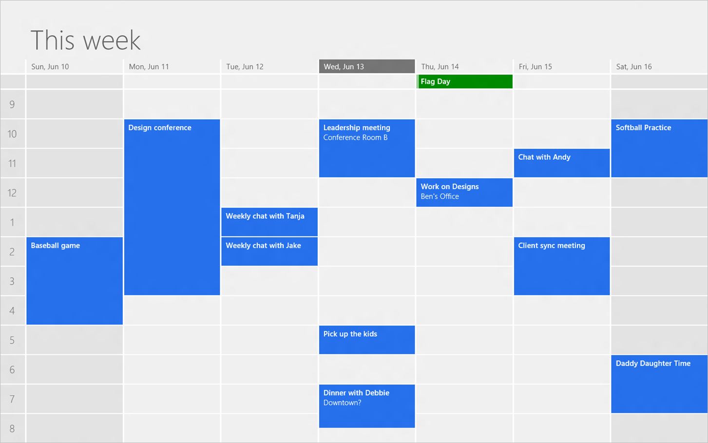"""Разработка Приложения """"календарь"""" Для Windows 8 – Создание"""