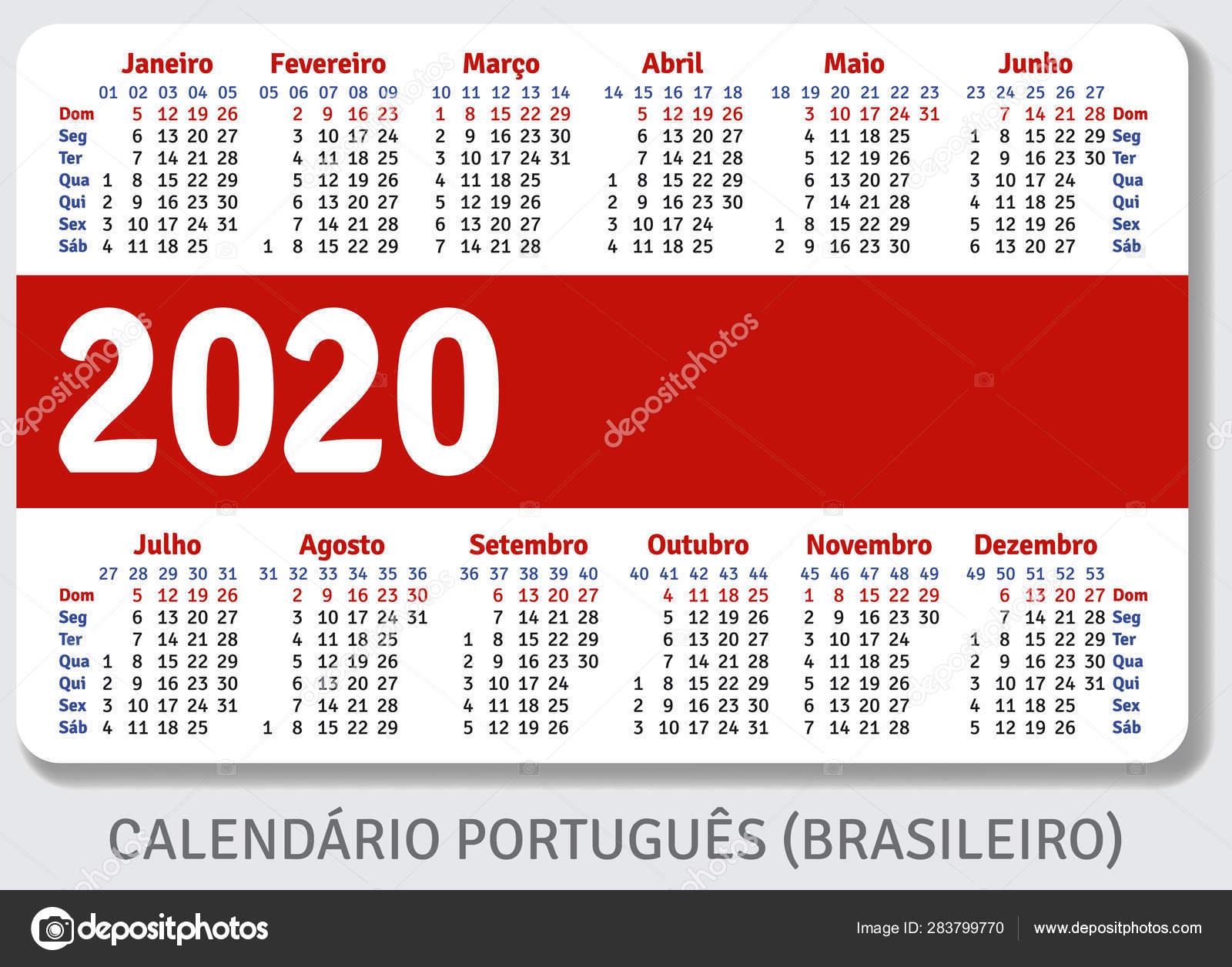 Стоковые Векторные Изображения Календарь 2020 Года