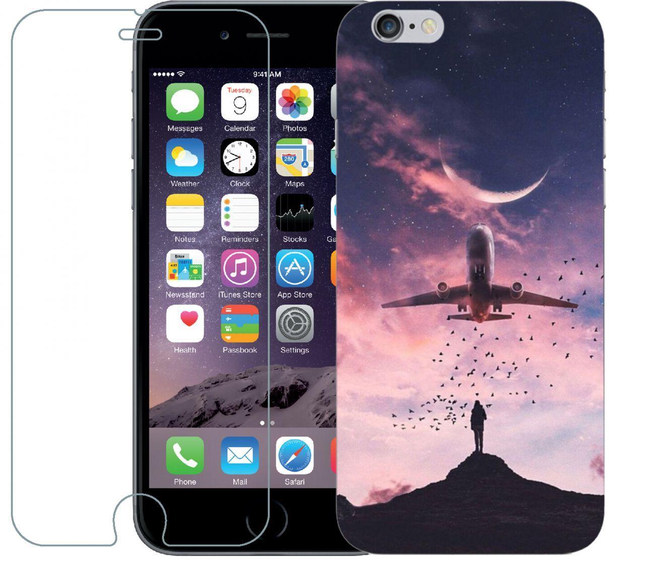 Чехол 1Touch Print Case Apple Iphone 6, Iphone 6S Red Sky + Tempered Glas -  Bigl.ua