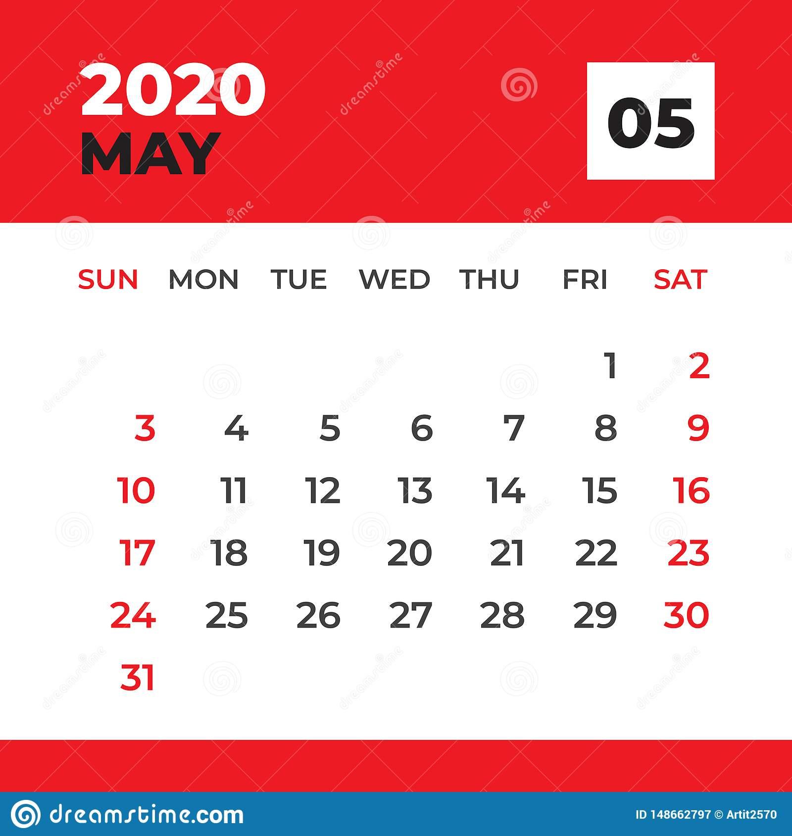 Шаблон Мая 2020, Настольный Календарь На 2020 Год, Начало