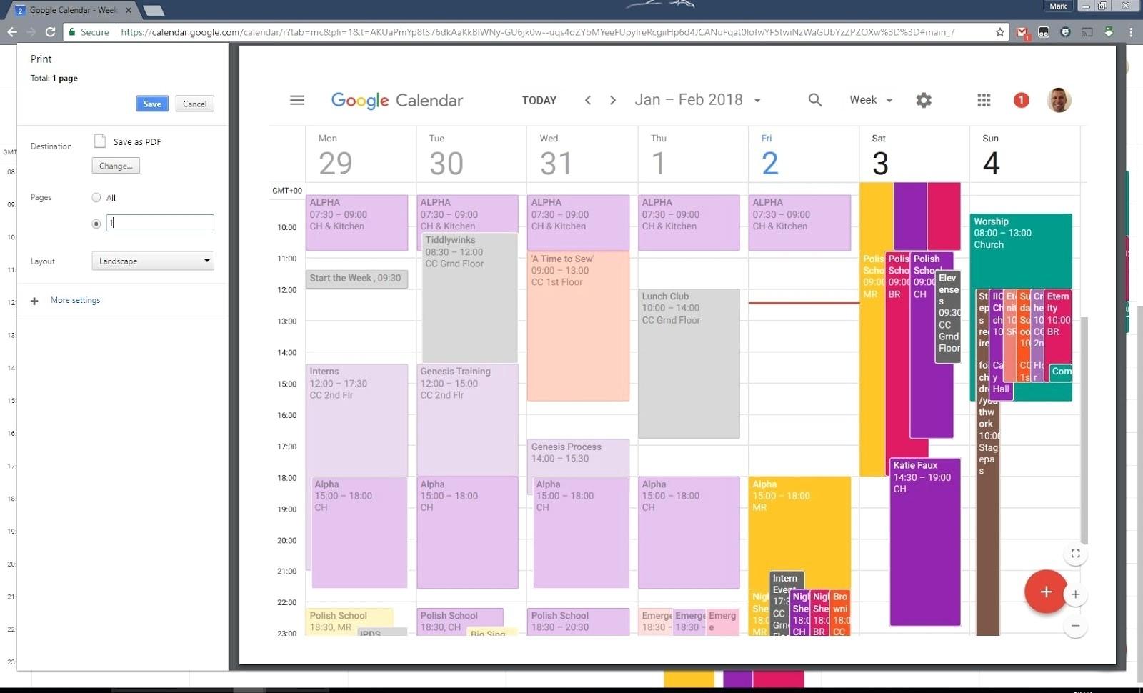 Print Google Calendar Better