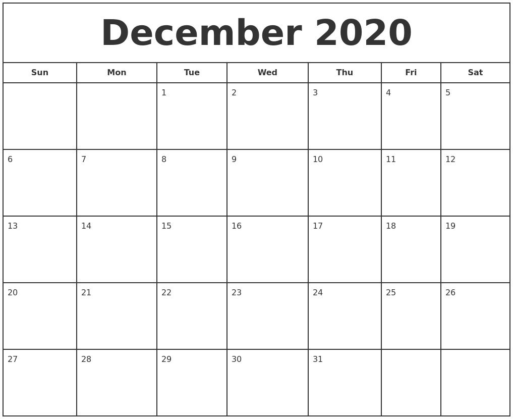 December Calendars 2020 - Wpa.wpart.co