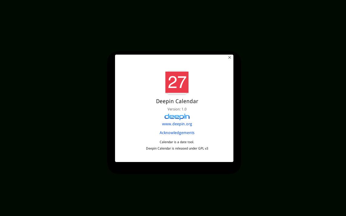 Deepin Calendar — Сообщество Deepin Technology