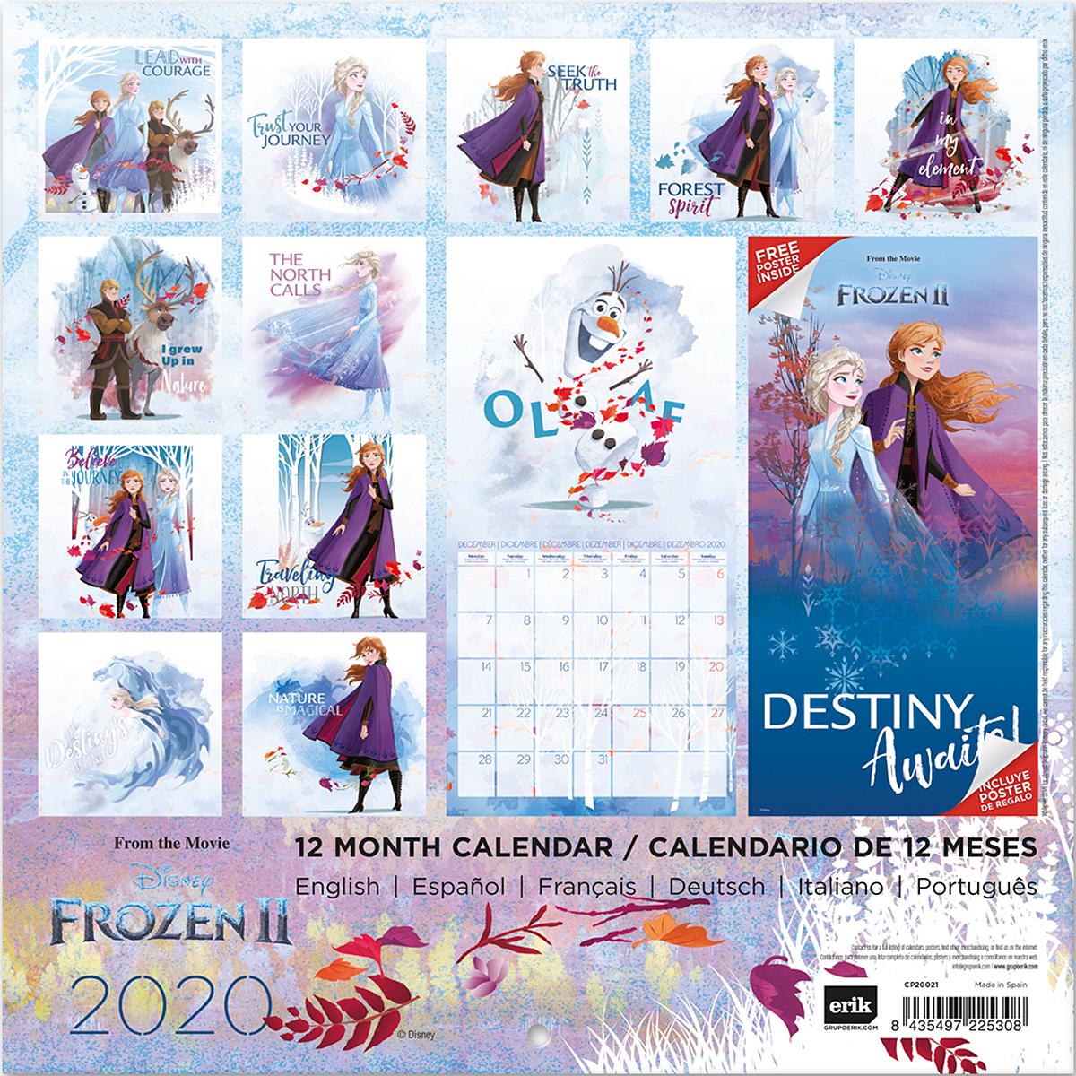 Disney Calendar 2020 Frozen