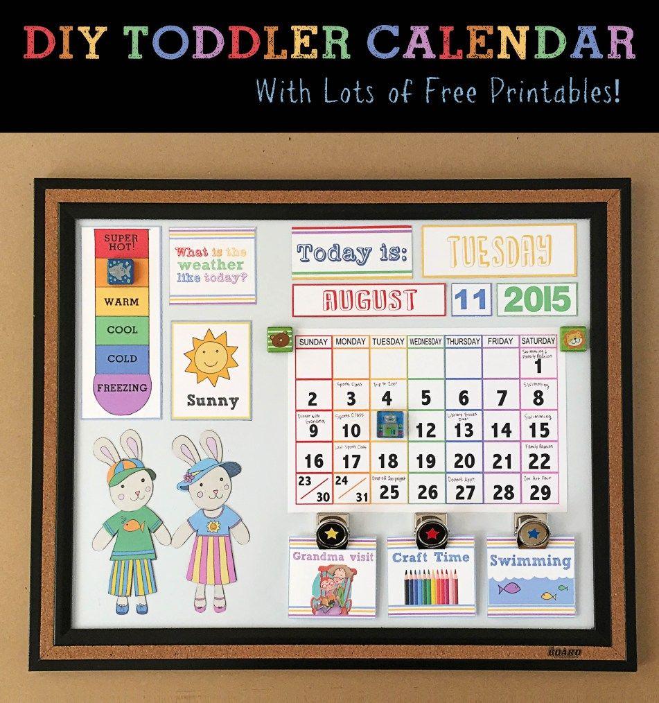 Diy Children's Calendar| Toddler Calendar, Preschool