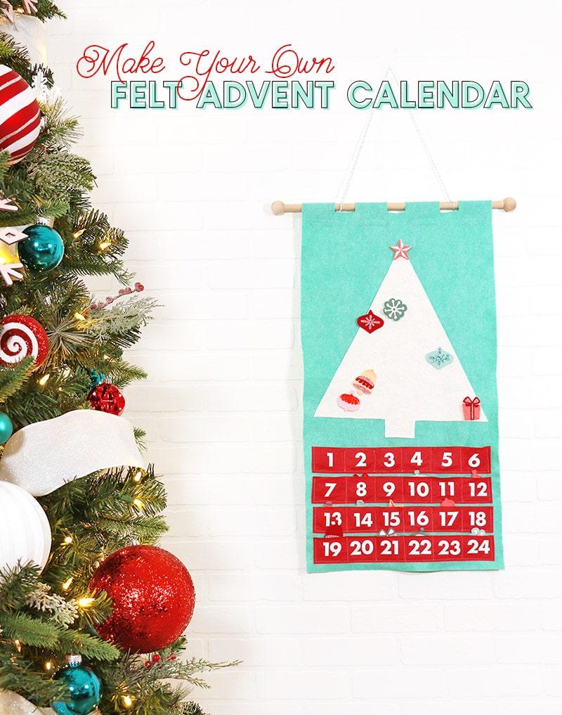 Diy Felt Christmas Tree Advent Calendar - Persia Lou