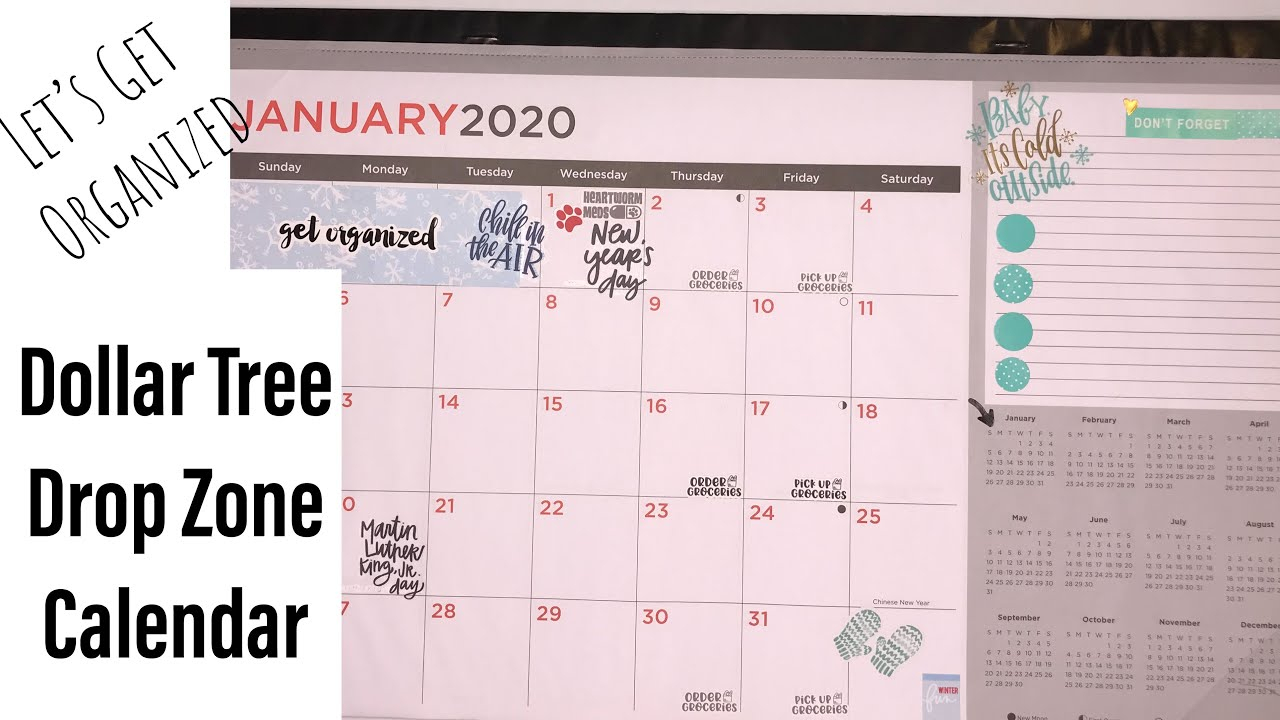 Dollar Tree 2020 Drop Zone Calendar