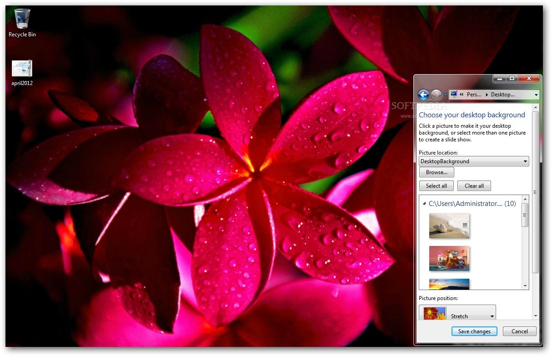 Download April 2012 Calendar Windows 7 Theme 1.00