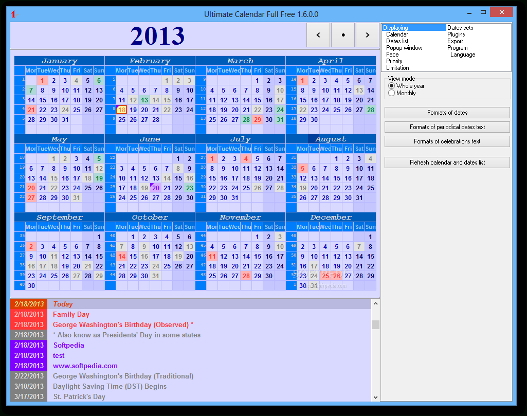 Download Ultimate Calendar Portable 1.8.1.2 Update 2