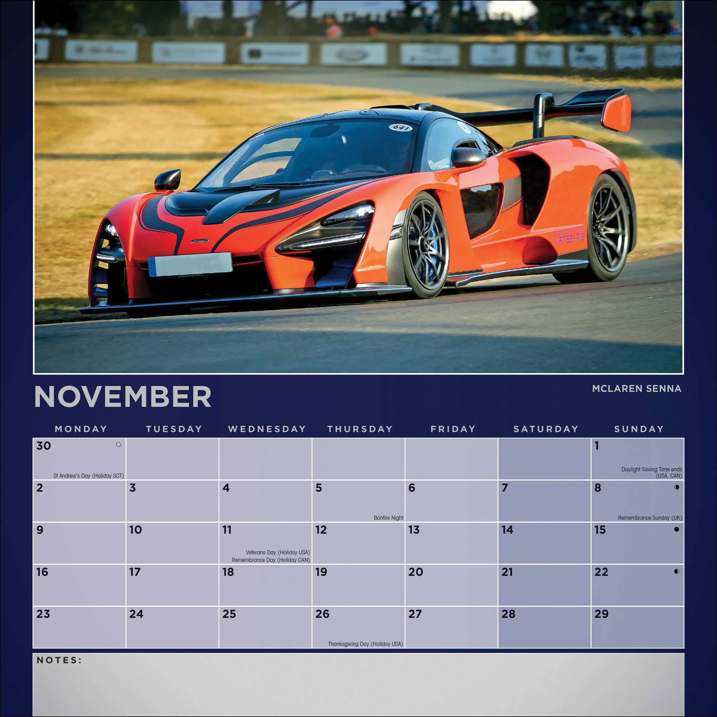 Dream Cars Calendar 2020