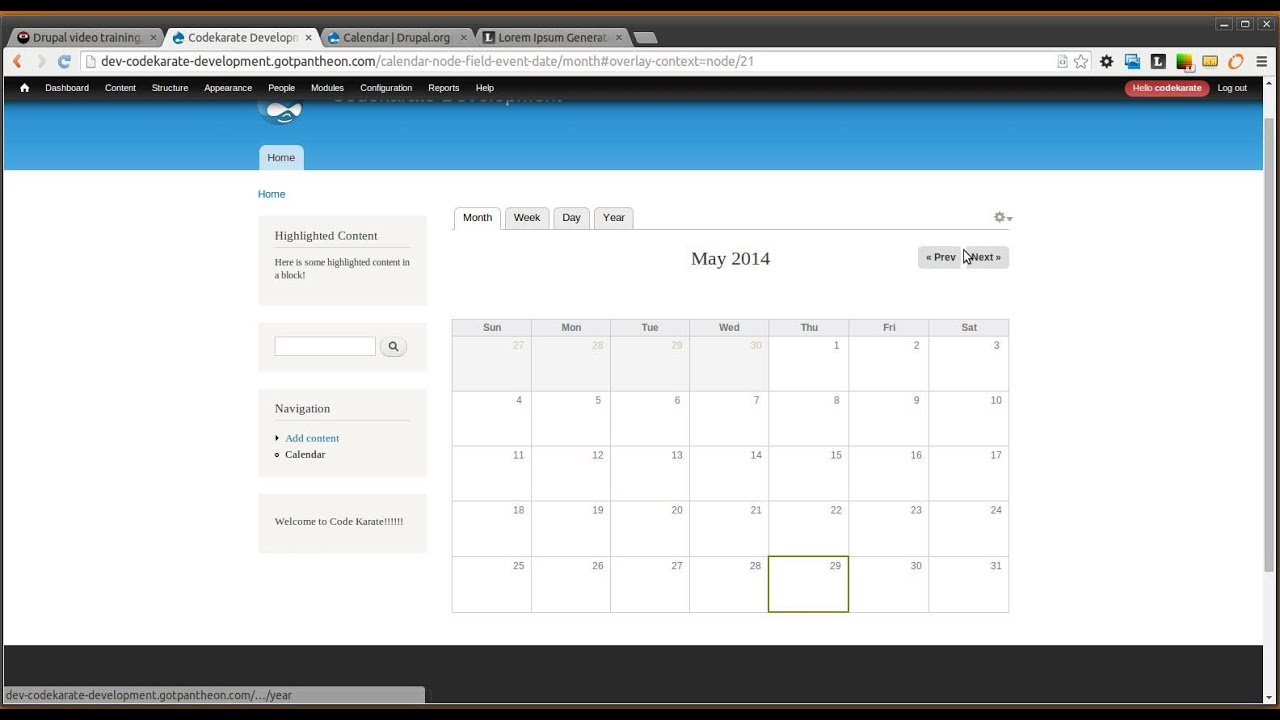 Drupal 7 Calendar Module | Code Karate