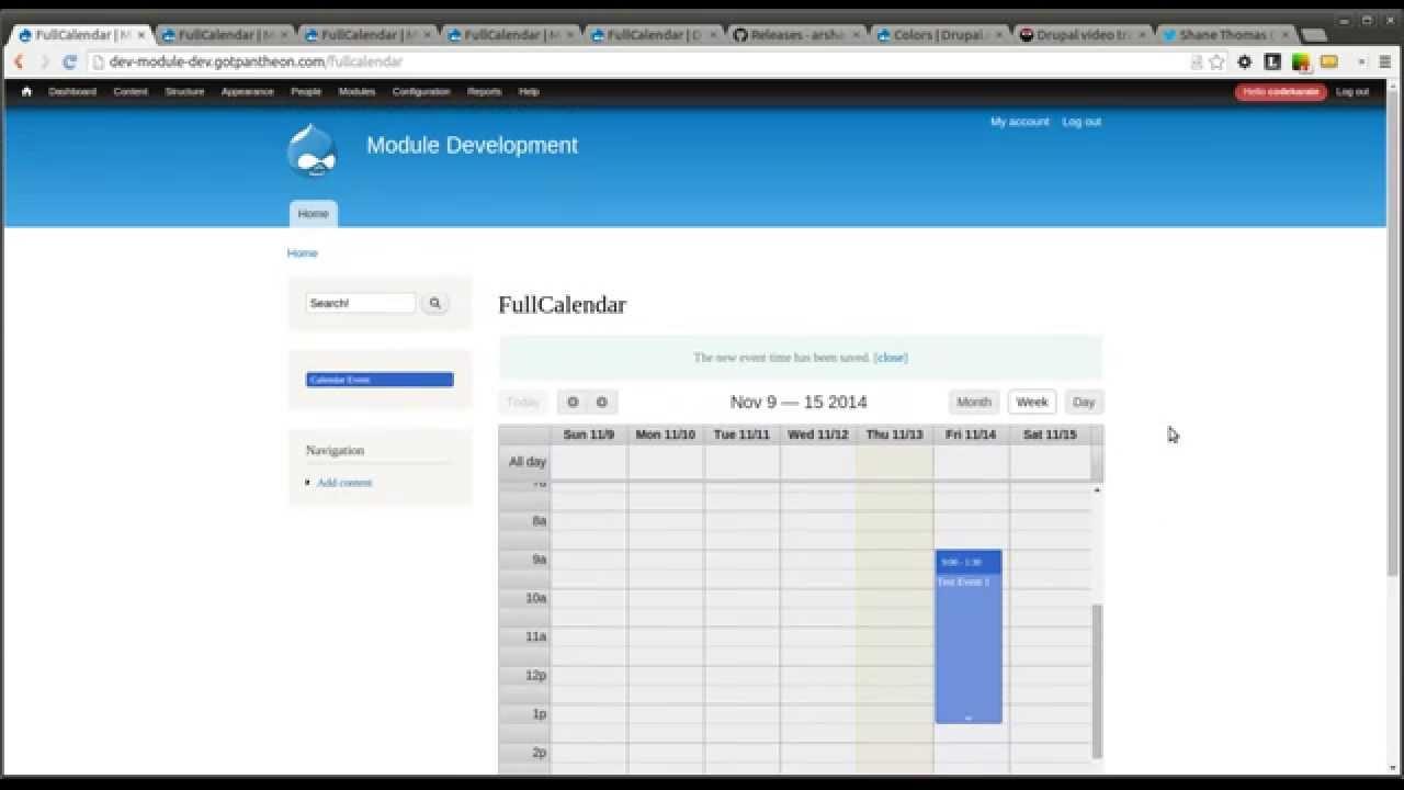 Drupal 7 Fullcalendar - Daily Dose Of Drupal 179