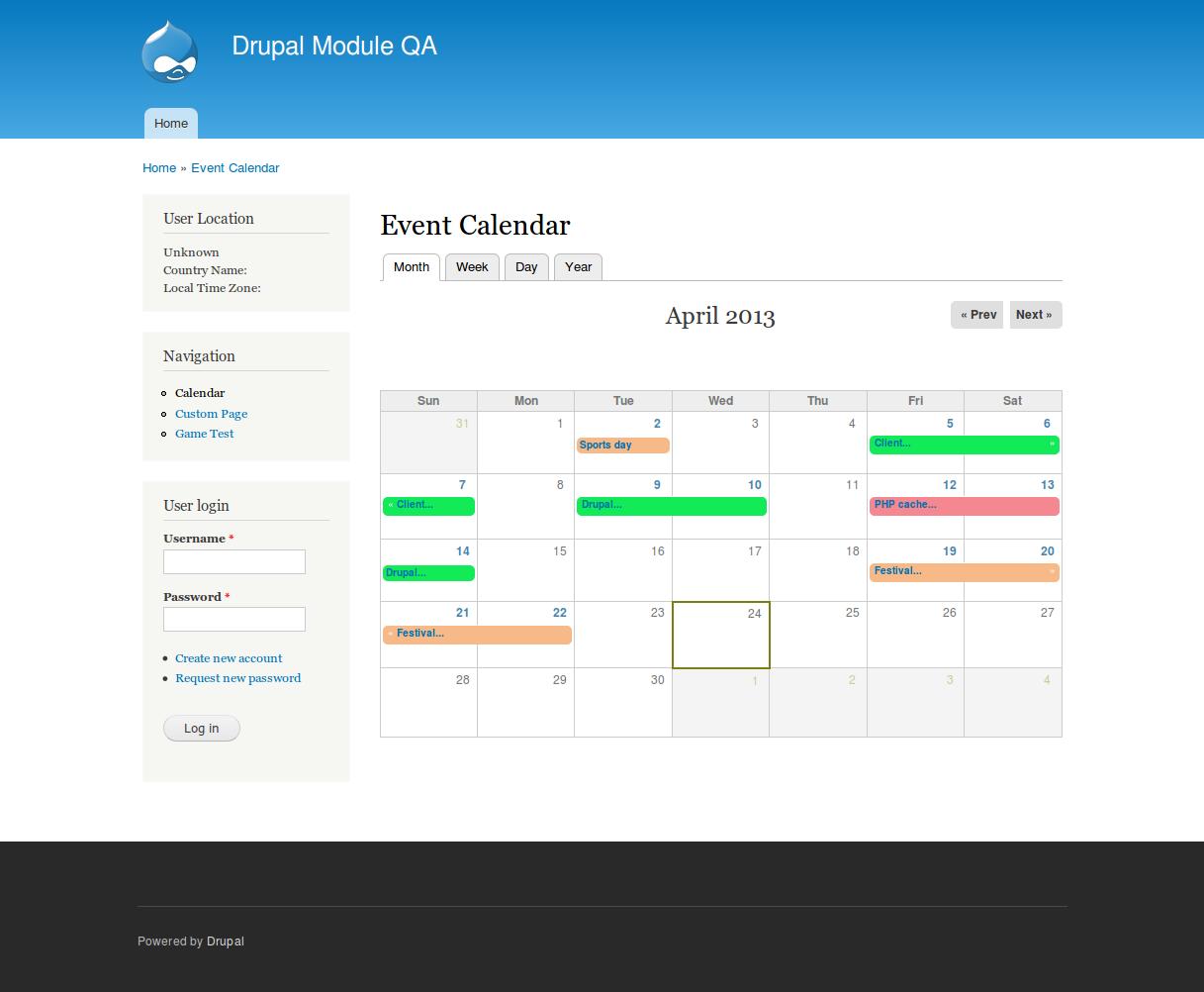 Drupal Calendar - Wpa.wpart.co