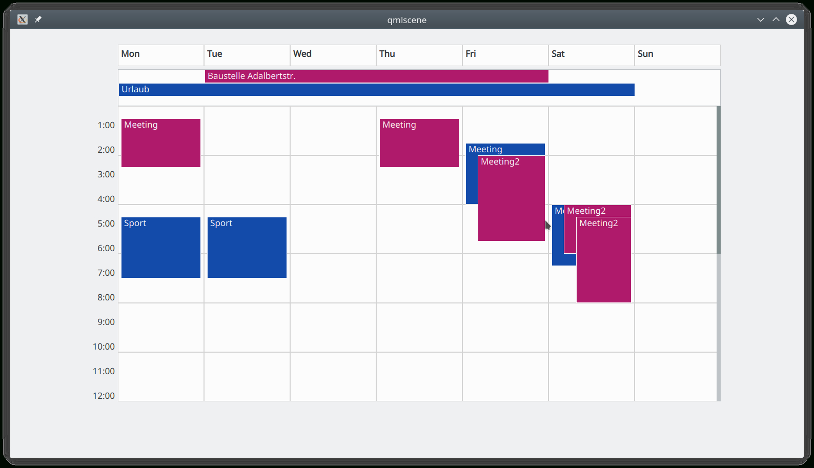 ⚓ T8093 Calendar Ui