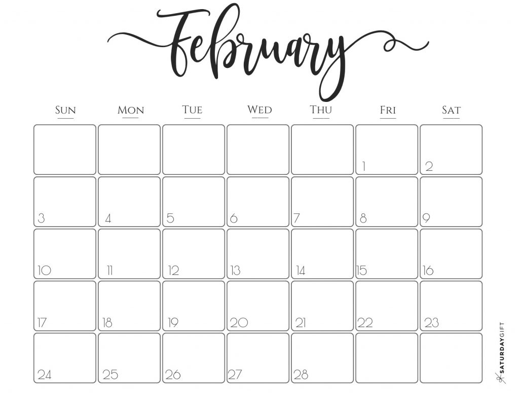 Elegant 2019 Calendar {Free Printables} | Saturdaygift