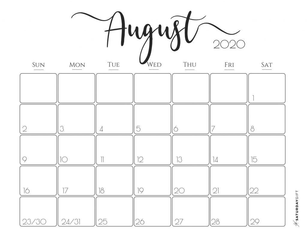 Elegant 2020 Calendar {Free Printables} | 2019 Calendar