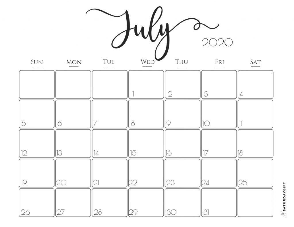 Elegant 2020 Calendar {Free Printables} | Calendar, July