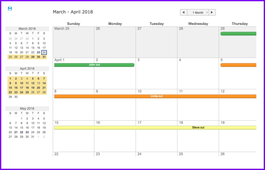 Employee Vacation Planning Calendar - Wpa.wpart.co