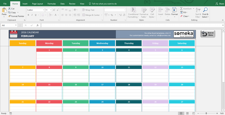 Excel Calendar Spreadsheet - Wpa.wpart.co