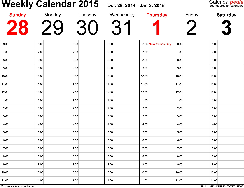 Excel Calendar Week 53 | Igotlockedout