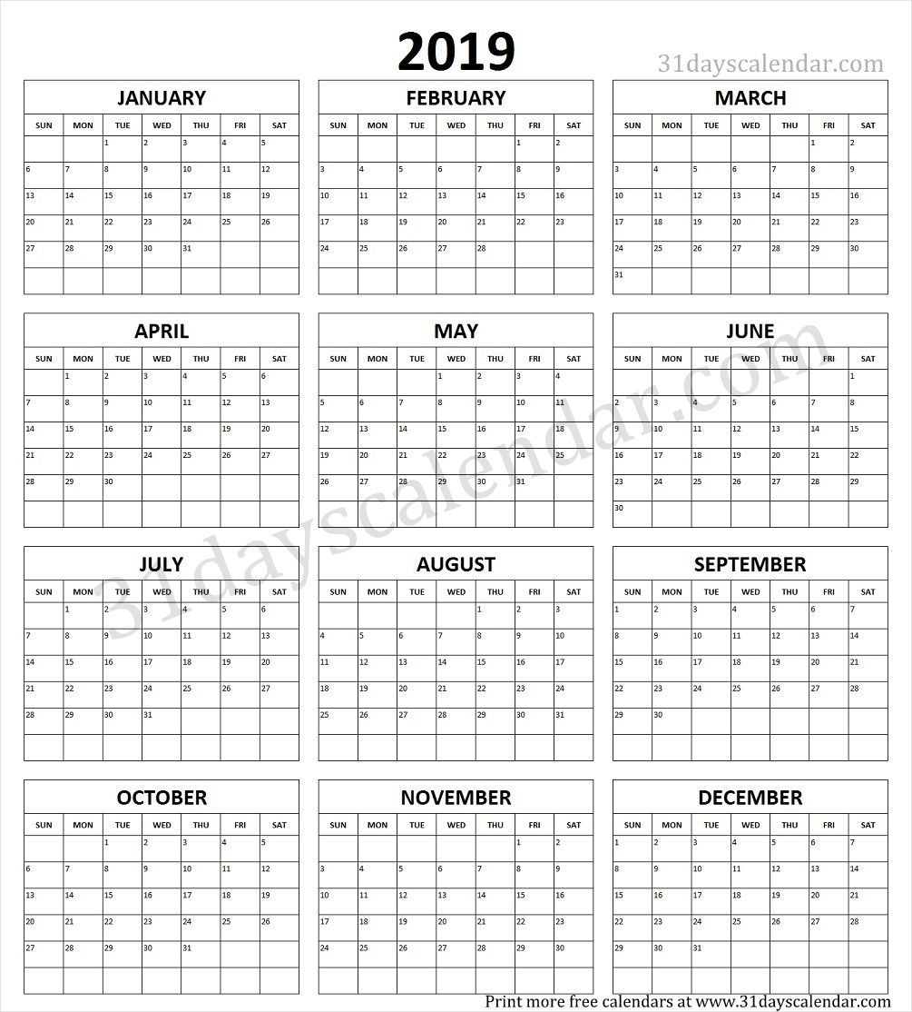 Exemplary Print A Year Calendar : Mini Calendar Template