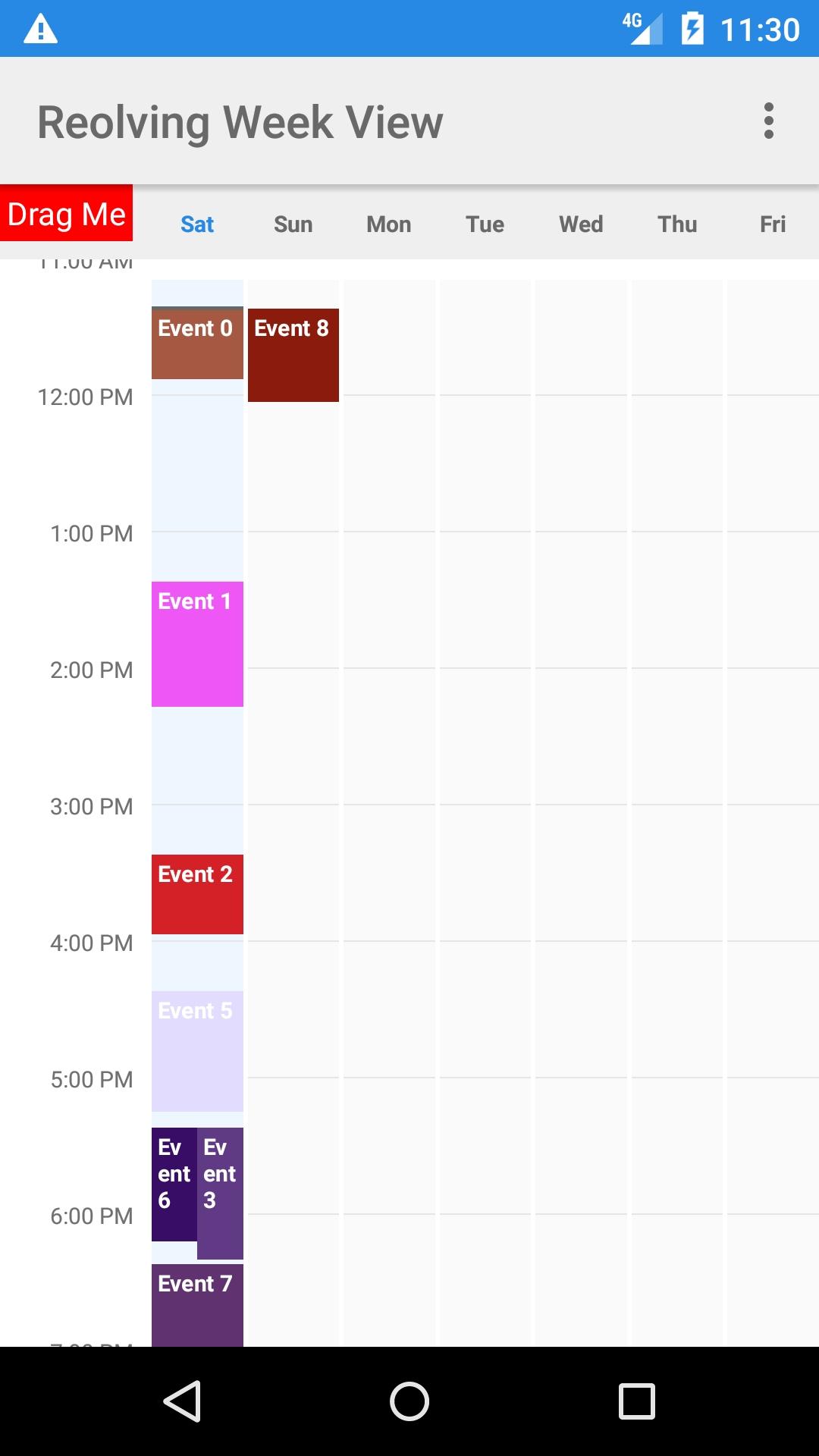 Exemplary Week Calendar Android Github : Mini Calendar Template