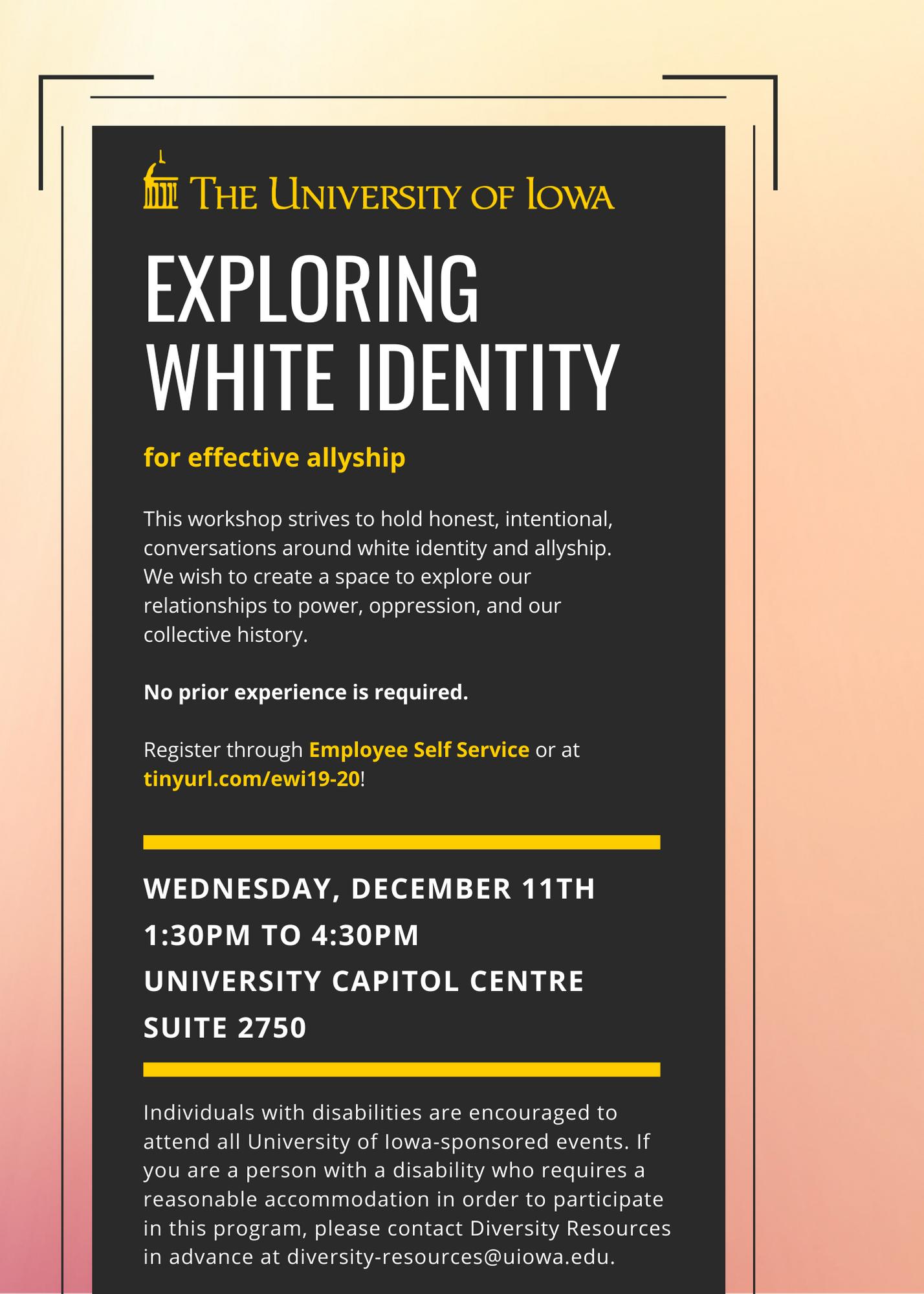 Exploring White Identity For Effective Allyship