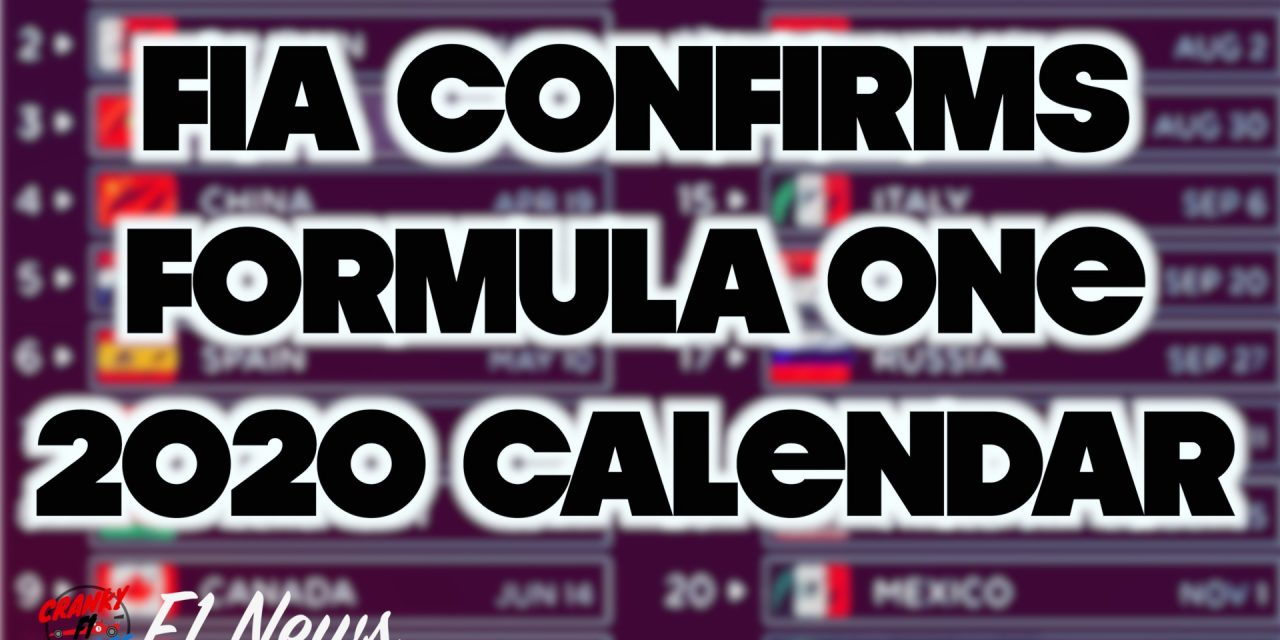 F1 2020 Schedule Features A Record 22 Grand Prix Events