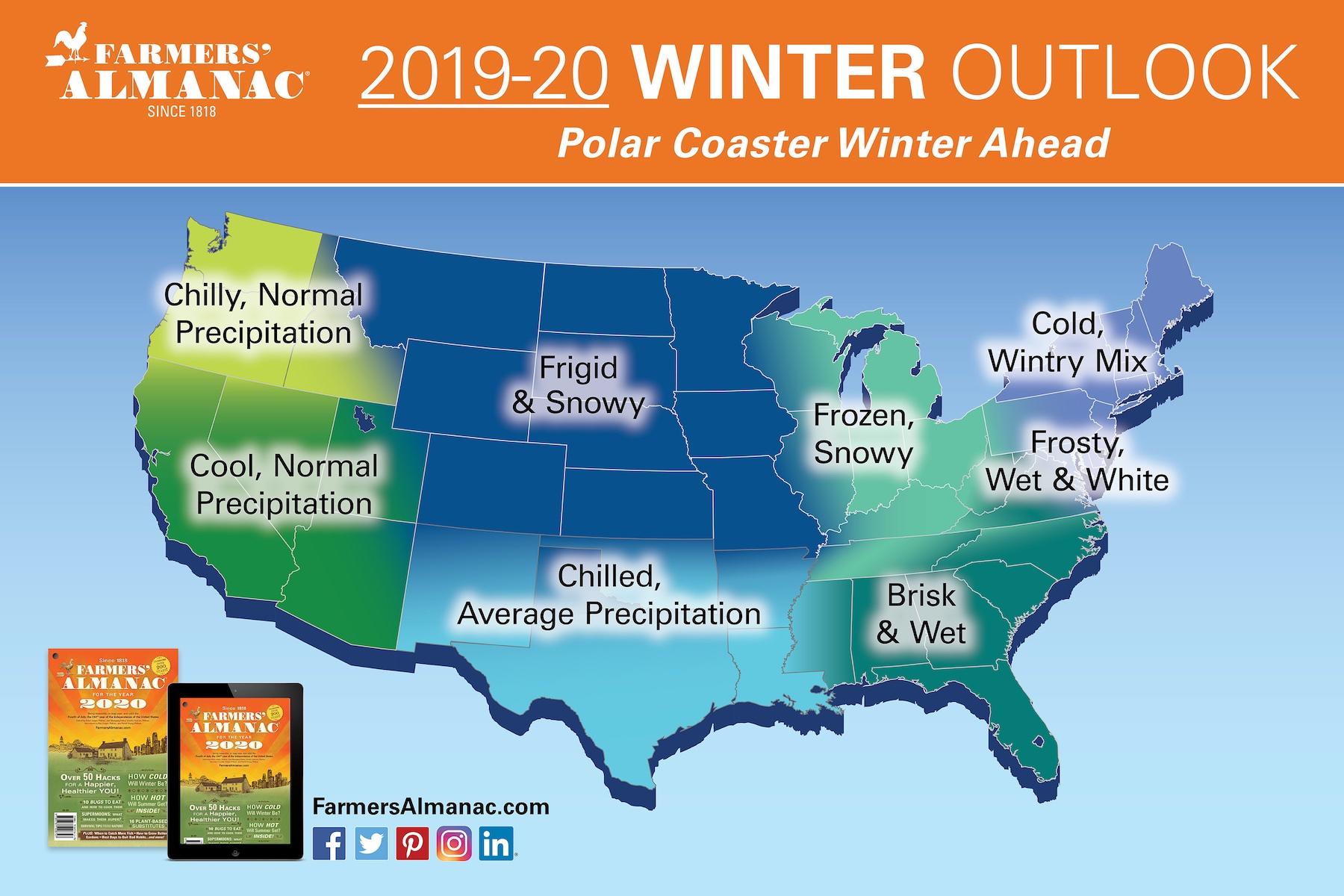Farmers' Almanac's Extended Forecast 2020