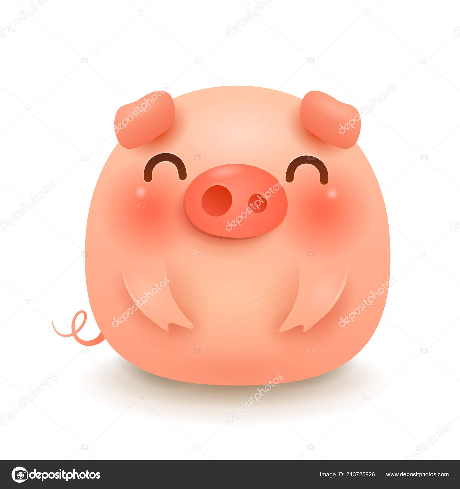 Fat Little Pig Chinese New Year Year Pig Chinese Zodiac