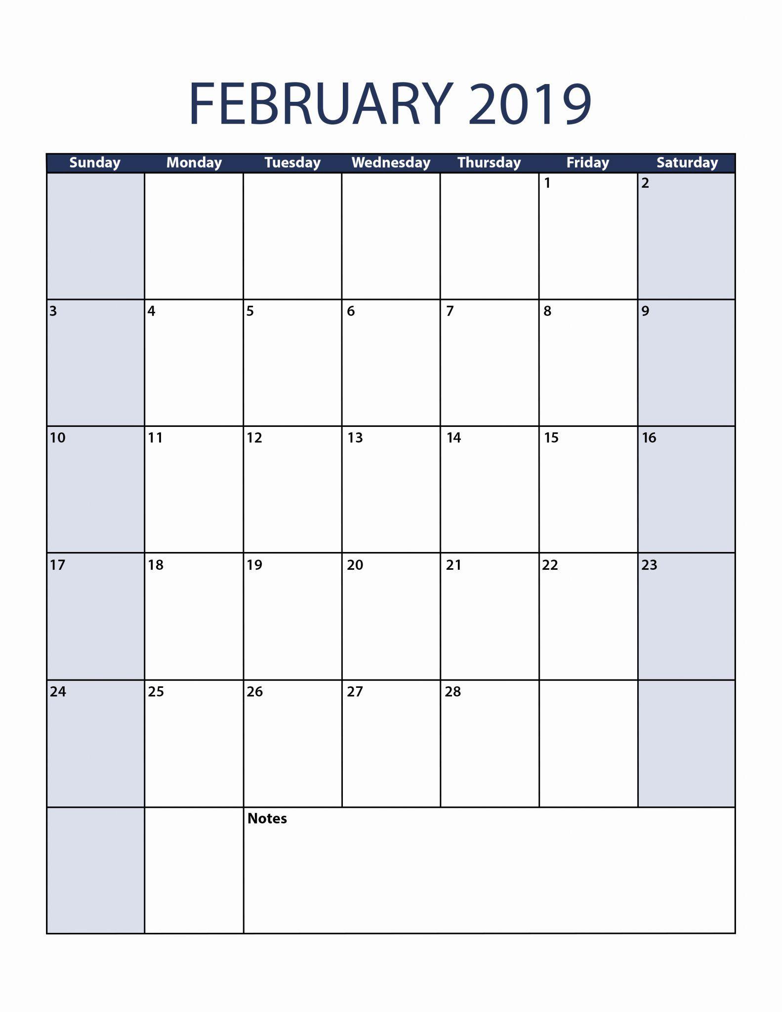 February 2019 Calendar Portrait | Calendar June, Calendar