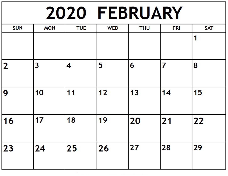 February 2020 Calendar Of Public Holidays | Office Holidays