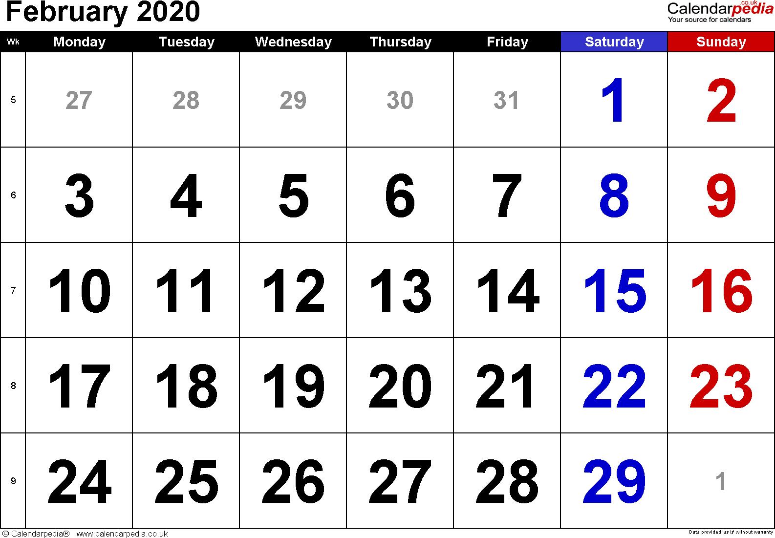 February 2020 Calendar Uk - Wpa.wpart.co
