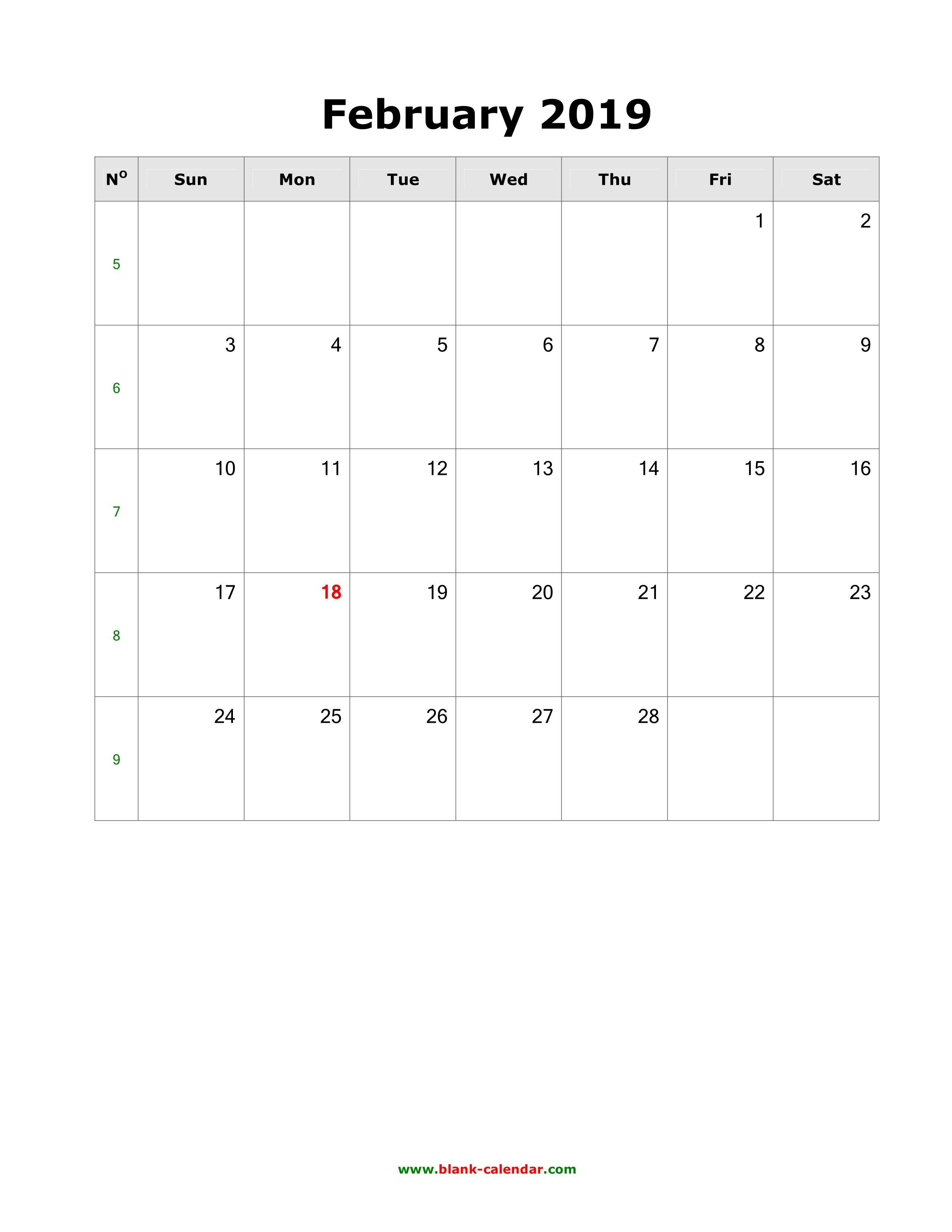 February Calendar 2019 To Do List | February Calendar
