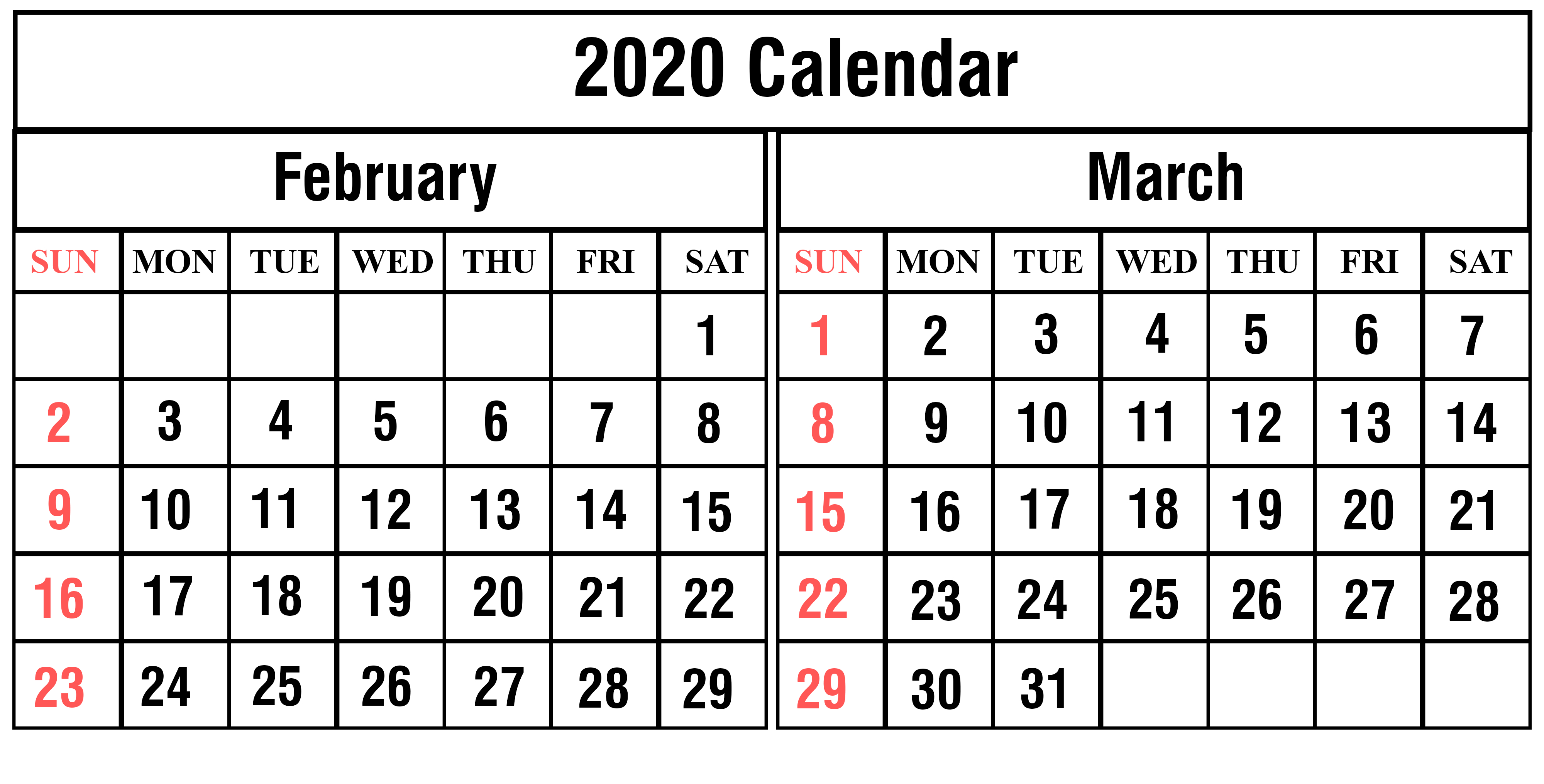 February March 2020 Calendar Quotes Of The Day | Free